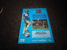 Bristol Rovers v Sheffield Wednesday, 1980/81